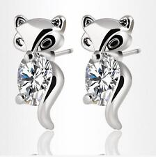 2018 new 925 silver filled Zircon stud Fox earrings exquisite fashion jewelry