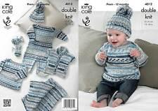 King Cole 4012 Knitting Pattern Baby Set in King Cole Cherish DK
