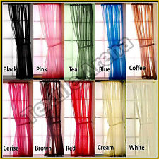 "2x Voile Panel Curtain Top Quality Net and Voile Curtain 36"" 45"" 48"" 54"" 72"" 90"""