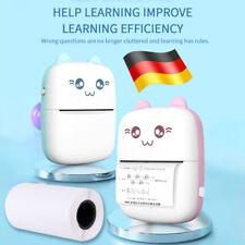 Mini tragbar Thermodrucker für Smartphone Handy Fotodrucker Rechnung E7M0