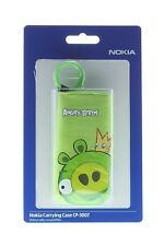 NOKIA CP-3007 GREEN PIG ANGRY BIRDS SOFT POUCH CASE FOR SMARTPHONES / MP3 ETC