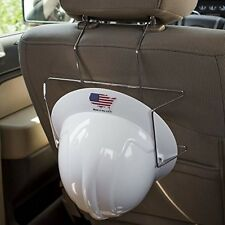 Hard Hat Holder-Over the Seat or Headrest Wire Rack for Construction Utility