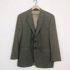 Polo University by RL Mens VTG Green Herringbone Wool Blazer: Sz 42R