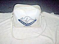 A Vintage Kings Holidays Australia White PVC Vinyl Travel Advertising Bag