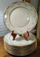 12 Lenox Somerset Salad Plates Cream/Pink/Grey W/Gold Guiding Sold Individually