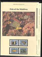 Maldives 1986 Fish/WWF 4v + 5pp Info Pack (n20724)
