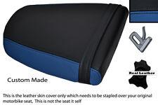 ROYAL BLUE & BLACK CUSTOM FITS TRIUMPH SPEED TRIPLE 955 i 01-05 REAR SEAT COVER