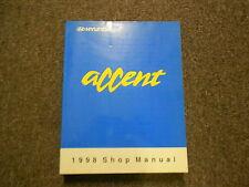 1998 HYUNDAI ACCENT Service Repair Shop Manual Vol 1 FACTORY OEM Fuel System 98