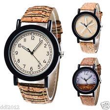 Fashion Men's Women's Leather Band Casual Quartz Analog Wrist Watches Gifts AU