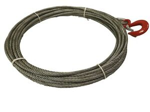 8.3mm Winch Cable To Suit Tirfor & 800kgs Wire Rope Hoist - Choose Length