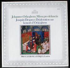 Ockeghem Missa pro defunctis Josquin La Nymphe des Bois Bruno Turner LP M CV NM