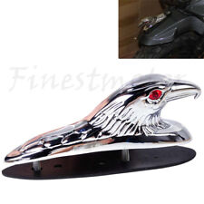 Chrome Front Fender Bonnet Eagle Head with Red Eyes
