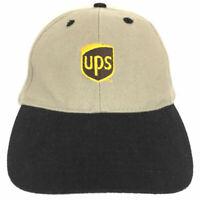 Vintage UPS Cap United Parcel Service Hat Embroidered Logo Trucker Baseball Tan
