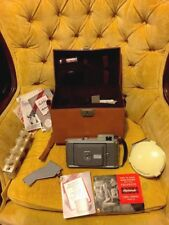 VINTAGE POLOROID LAND CAMERA MODEL 80A W/FLASH CARRY CASE FLASHBULBS Diffuser