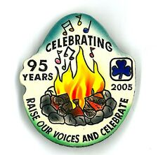Girl Guide Scout Brownie RESIN PIN – new! 95th Nova Scotia Canada 2.25 in