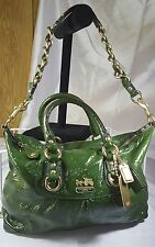 Luxurious Rare Coach Madison Green Leather Sabrina Satchel Handbag Shoulder Bag