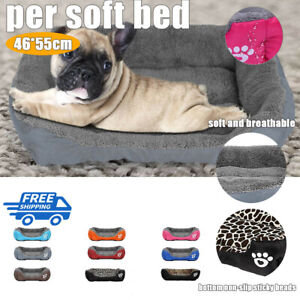 Pet Dog Cat Bed mat Puppy Cushion Soft Warm House Kennel Mat Blanket Washable UK