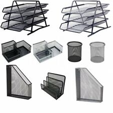 More details for metal mesh a4 document tray magazine letter file pencil pen cup holder storage