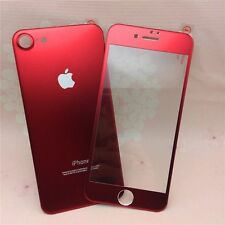 Red Color Aluminium Alloy Metal Tempered Glass For Apple iPhone 7/7S FRONT/BACK