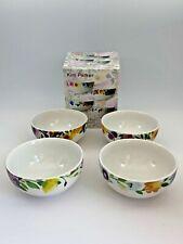 Set 4 MIKASA By Kim Parker PROVENCE GARDEN Fruit/Cereal BOWL Colorful Floral NIB