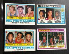 Vintage Basketball LEADERS Card Lot (4)  Abdul-Jabbar Malone Archibald