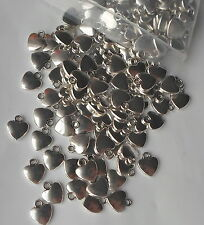 20 x 12mm Tibetan Silver Heart Beads/Charms/Pendant Jewellery Craft Beading CH11