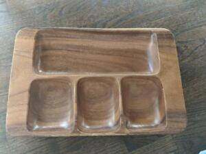 Hand Crafted Acacia Wood Tray, Philippines Wooden Tray
