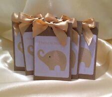10 x sacchetto di tè Baby Shower favorisce neutrale, oro o argento.