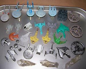 Vintage Lot STAR TREK MICRO MACHINES Silver Ships ENTERPRISE Klingon Romulan +