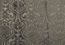 Chelsea Damask High End French Velvet Charcoal Baroque Roccoco Renaissance