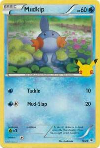 Mudkip 19/25 Non Holo McDonalds 25th Anniversary Promo Pokemon Card - MINT