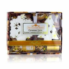 Ashleigh & Burwood Christmas Spice Room Spray & Scented Ceramic Decorations Gift