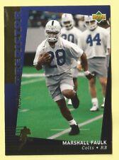 1994 Upper Deck Football Marshall Faulk Rookie Rushing Predictor League Leaders