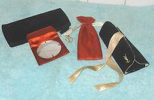 Vintage 3 Items OPIUM  Make Up Bag, Brush Case  Pouch  Yves Saint Laurent YSL