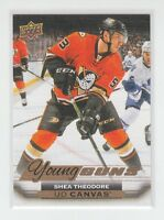 (65218) 2015-16 UPPER DECK CANVAS YOUNG GUNS SHEA THEODORE #C227
