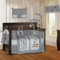 BabyFad 10 Piece Jungle Grey Baby Crib Bedding set