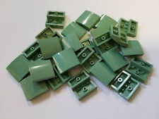 Lego Sand Green Slope Curved 2x2, Part 15068, Element 6080431, Qty:25 - New