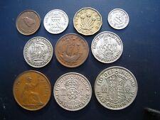 George VI Year set 1938 Halfcrown - Farthing. 10 Coins.