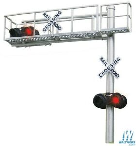 HO Scale WALTHERS 949-4331 CROSSING SIGNALS Modern Single-Lane Cantilever Signal