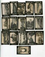 1908 Gallaher Ltd Cigarettes IRISH VIEW SCENERY 16 DIFFERENT TOBACCO CARD LOT