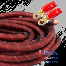 0 Gauge 20ft SNAKE SKIN OFC Wire Strands Copper Hi-Voltage Marine Cable 1/0 AWG