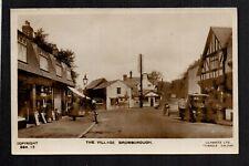 More details for bromborough - the village- real photographic postcard