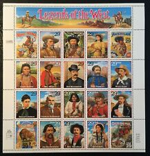 1994 Scott #2869 - 29¢ Legends of the West - Souvenir Sheet of 20 - Mint NH