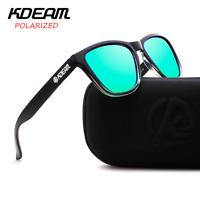 KDEAM 6 Colors Men Women Polarized Sunglasses Outdoor Driving Square Glasses