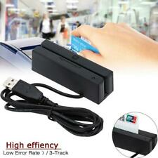 USB Magnetic Stripe Card Reader 3-Track Swipe Bank Credit Card Reader RU580B PW