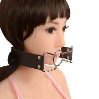 PU Leather Band Open Mouth Gag O Ring Mouth Stuffed Adult Games Toys