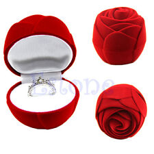 Romantic Rose Engagement Wedding Earring Ring Pendant Jewelry Display Gift Box
