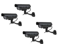 Cámara De Seguridad 4 X falso maniquí Casa trabajo al aire libre Vigilancia CCTV Intermitente Led