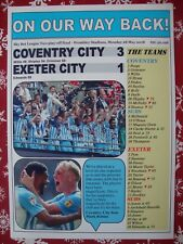 Coventry City 3 Exeter City 1 - 2018 League Two play-off final - souvenir print