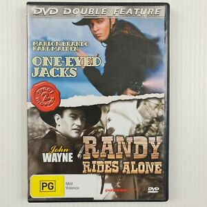 One-Eyed Jacks / Randy Rides Alone DVD - Double Feature - R ALL - TRACKED POST